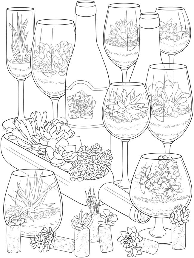 Welcome to Dover Publications - CH Stunning Succulents #adultcoloringpages