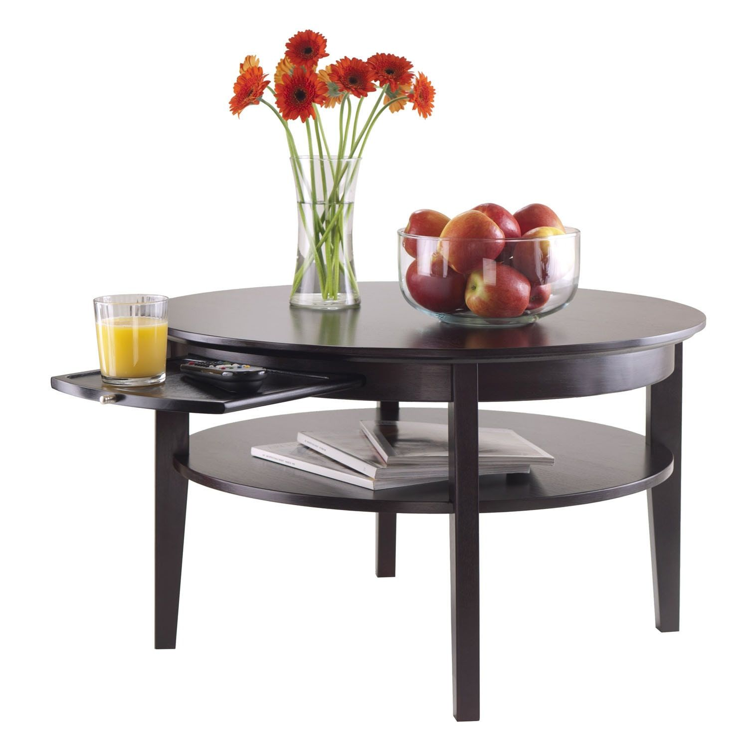 Coffee Table Round Small Home Goods : Free Shipping on orders over $45 at  Overstock.