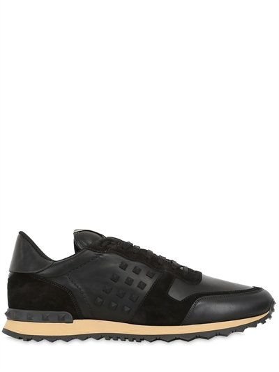 Valentino Rockstud Suede Sneakers buy cheap official site outlet cheap 2015 for sale purchase for sale sale buy mrjzQ