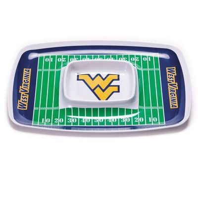BSI Products NCAA Melamine Chip and Dip Platter NCAA Team: West Virginia Mountaineers