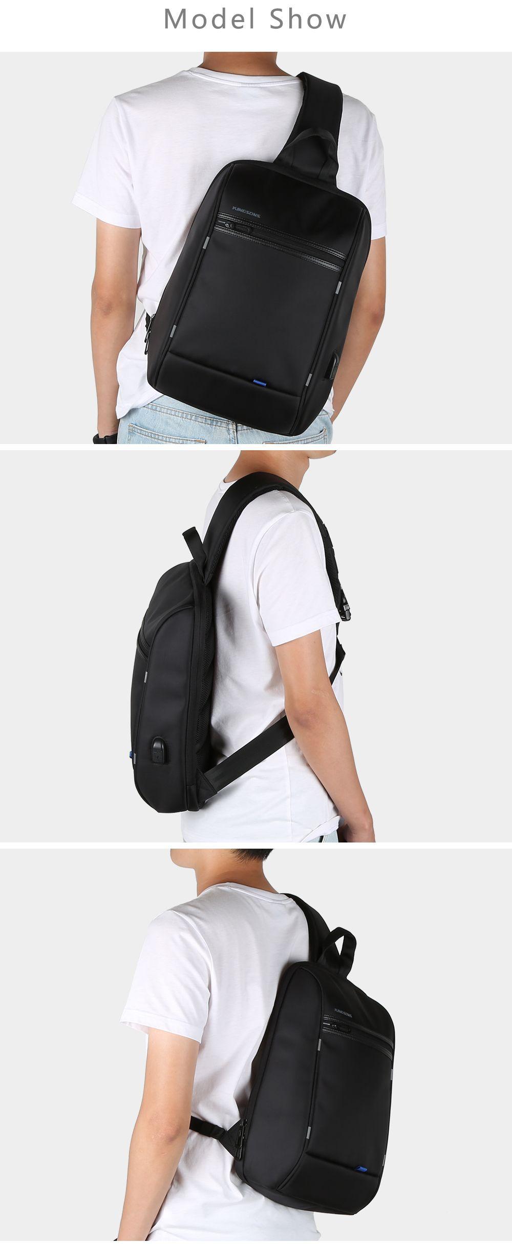 Fashion Men Women Nylon Adjustable Strap Single Shoulder Chest Bag Crossbody Bag