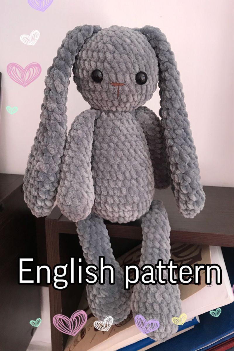 Crochet plush bunny pattern Amigurumi bunny Crochet rabbit
