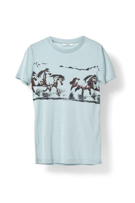 T-shirt med rund halsudskæring skåret fra blødt  og komfortabelt bomuld. <br /><br />Modellen er 175cm høj  og iført en størrelse small/ 36.