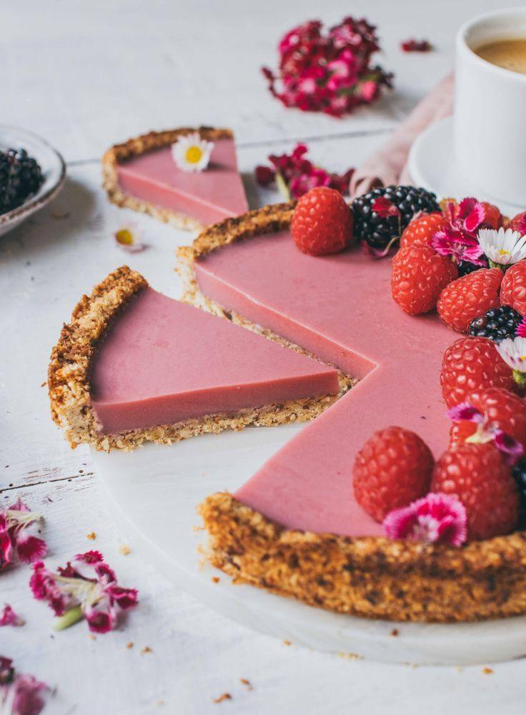 Himbeer Kokos Tarte | veganes und einfaches Rezept – Klara`s Life  – Besondere Torten