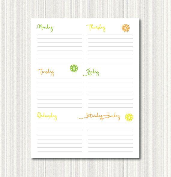 Printable Daily Calendar To-Do List, Printable Weekly Calendar, One - daily calendar printable