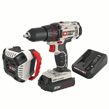 Porter Cable Pcck607la 20v Max Lithium Ion 1 2 Inch Cordless Drill And Blue Tooth Radio Combo Kit Porter Cable Cordless Drill Drill