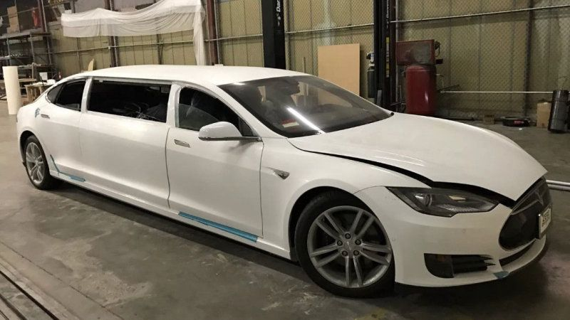 Tesla Model S Stretch Limo Pulled From Ebay With No Buyer Tesla
