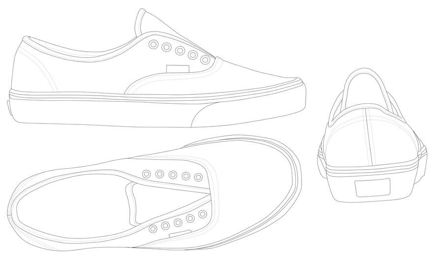 Vans Shoe Photoshop Template