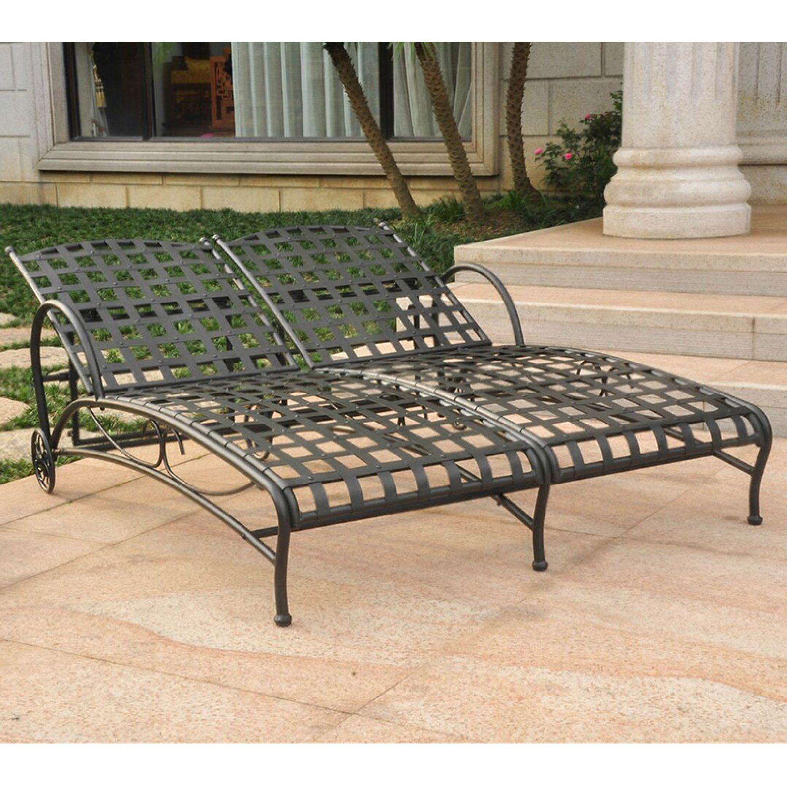 Santa Fe Nailhead Iron Multi-position Chaise Lounge