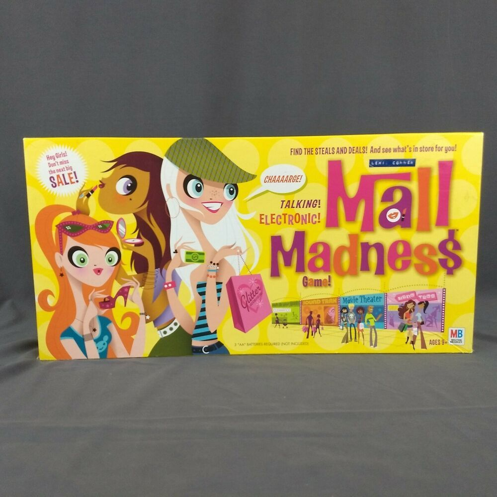 Mall Madness Electronic Board Game 2004 Milton Bradley 100