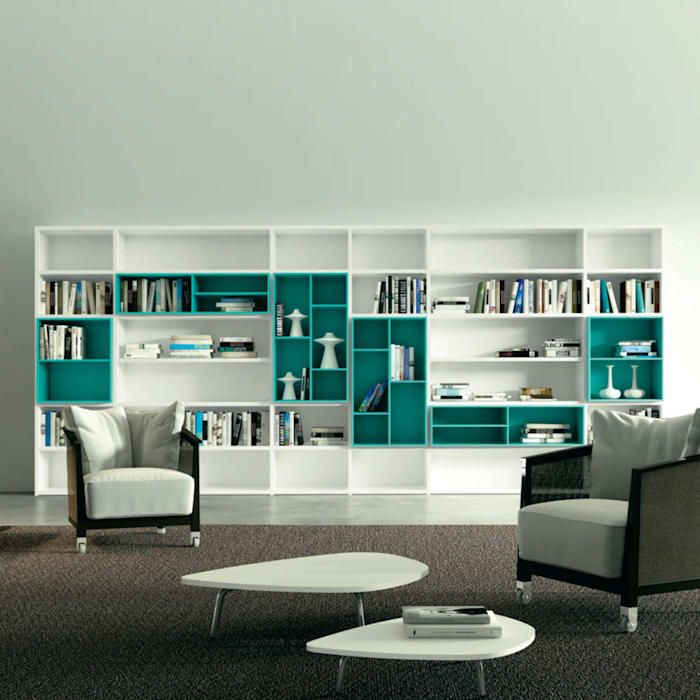 'white' Contemporary Free Standing Bookcase By Morassutti