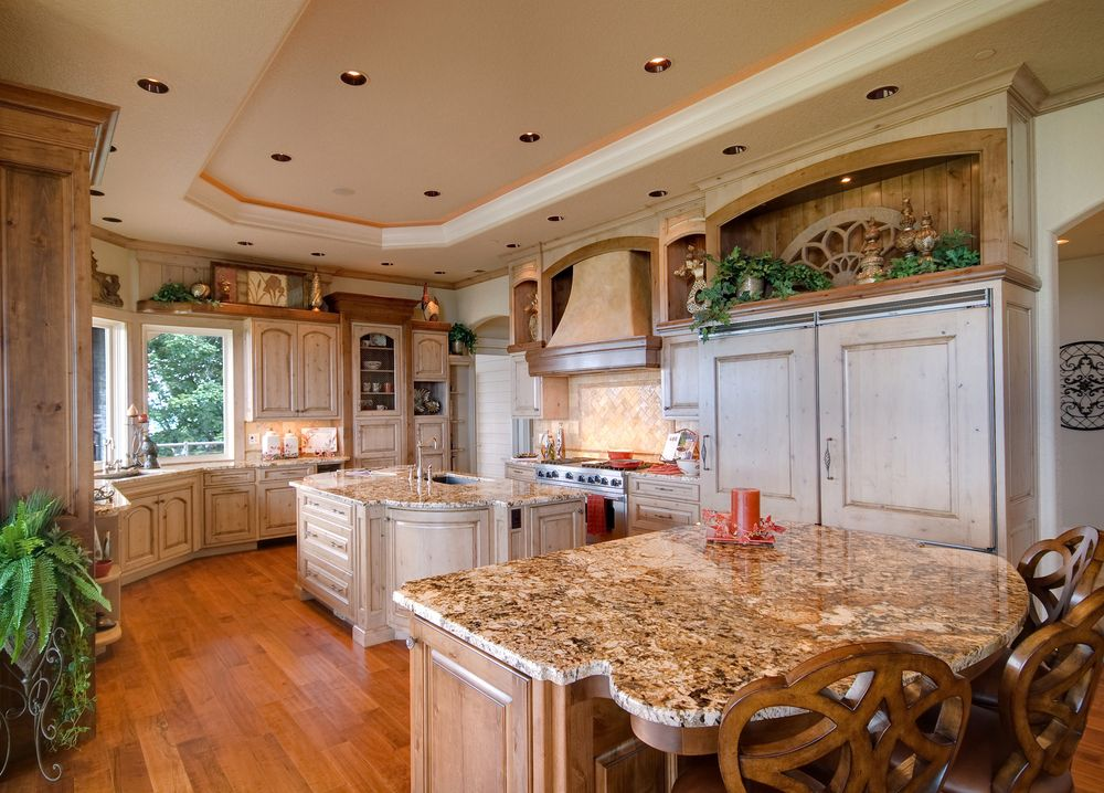 large country kitchen with curved wall and two islands amber s white kitchen with black island 2 hooked on houses