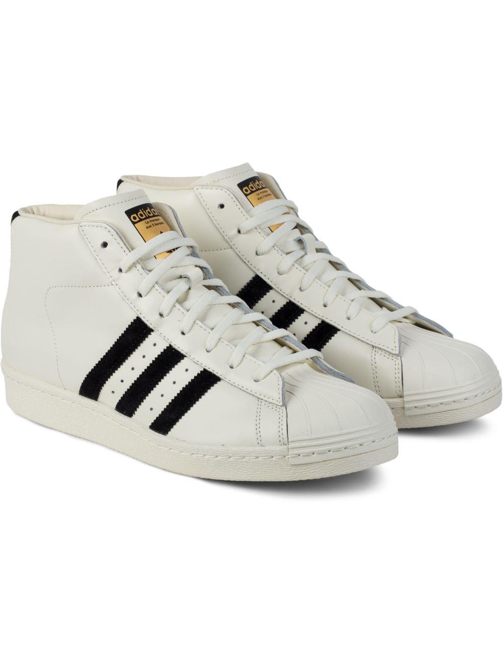 Off White/Core Black/Off White B35246 Pro Model Vintage DLX Shoes