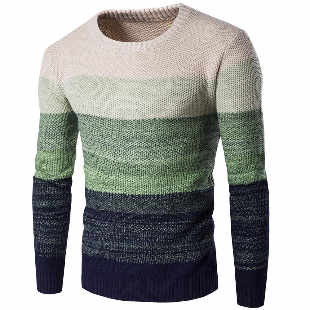 Stitching Pullover Sweater Male O-Neck Slim Fit Knitting Men s Sweaters Man  Pullover Men a5aabf9e3fd6