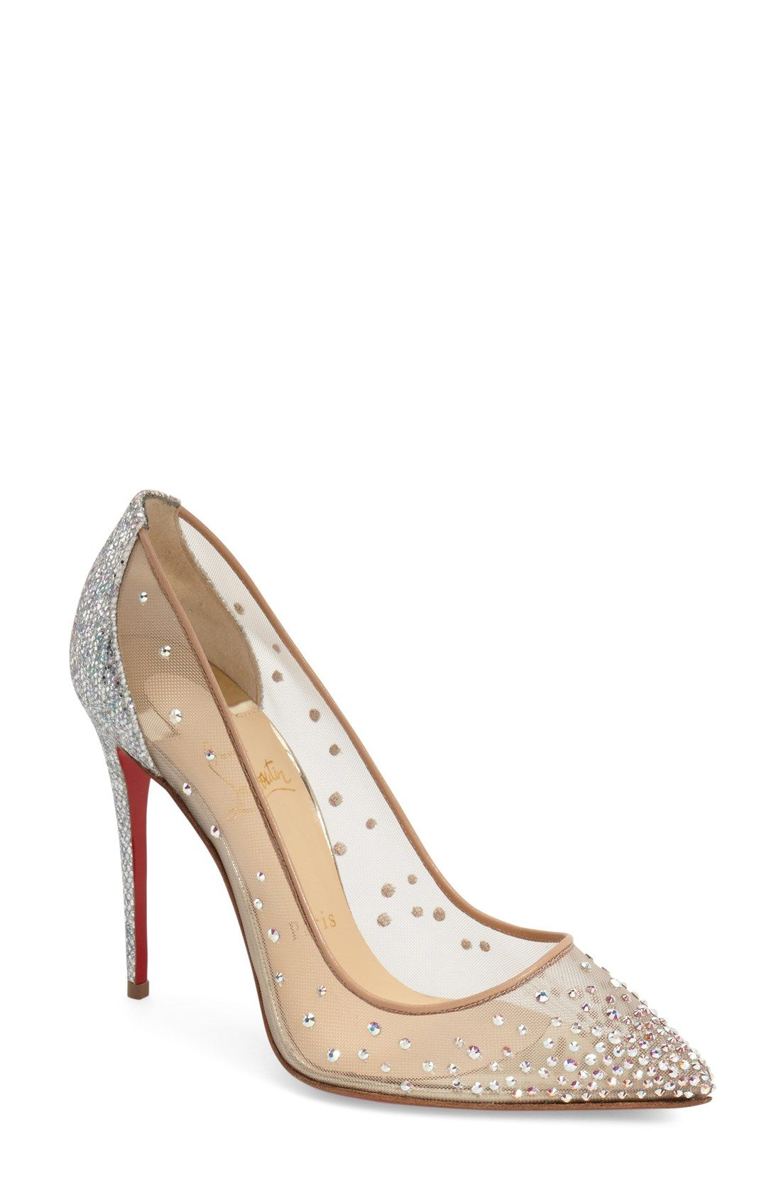 0ebcd32f29c Christian Louboutin  Follies Strass  Pointy Toe Pump