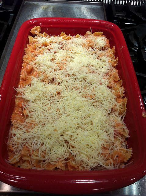 Paula Deen's Italian Chicken & Pasta Bake.