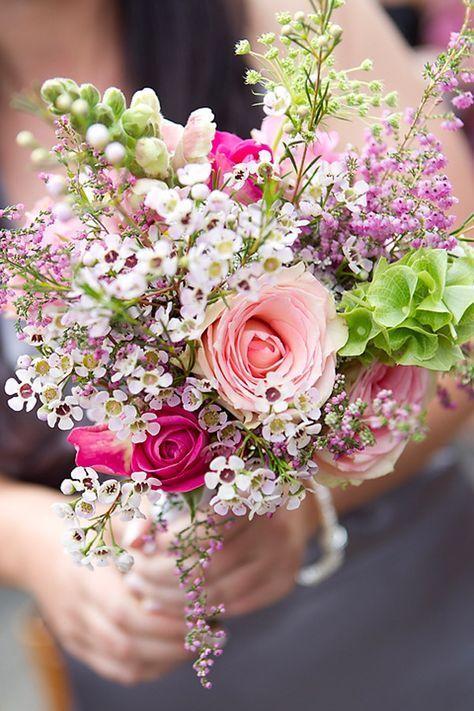 Feld und Wiesenstrau Brautstrau Hochzeit Wildblumen  Blumen  Arreglos florales Flores
