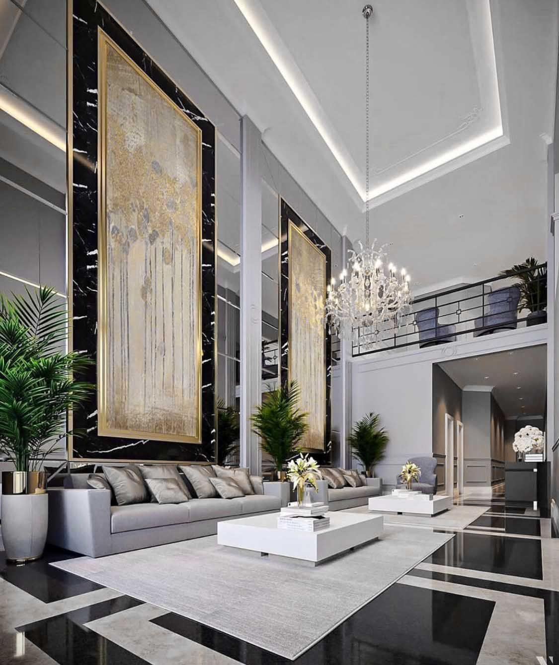 Majestic Luxury Modern Style Living Room Decor With Luxury Sofa