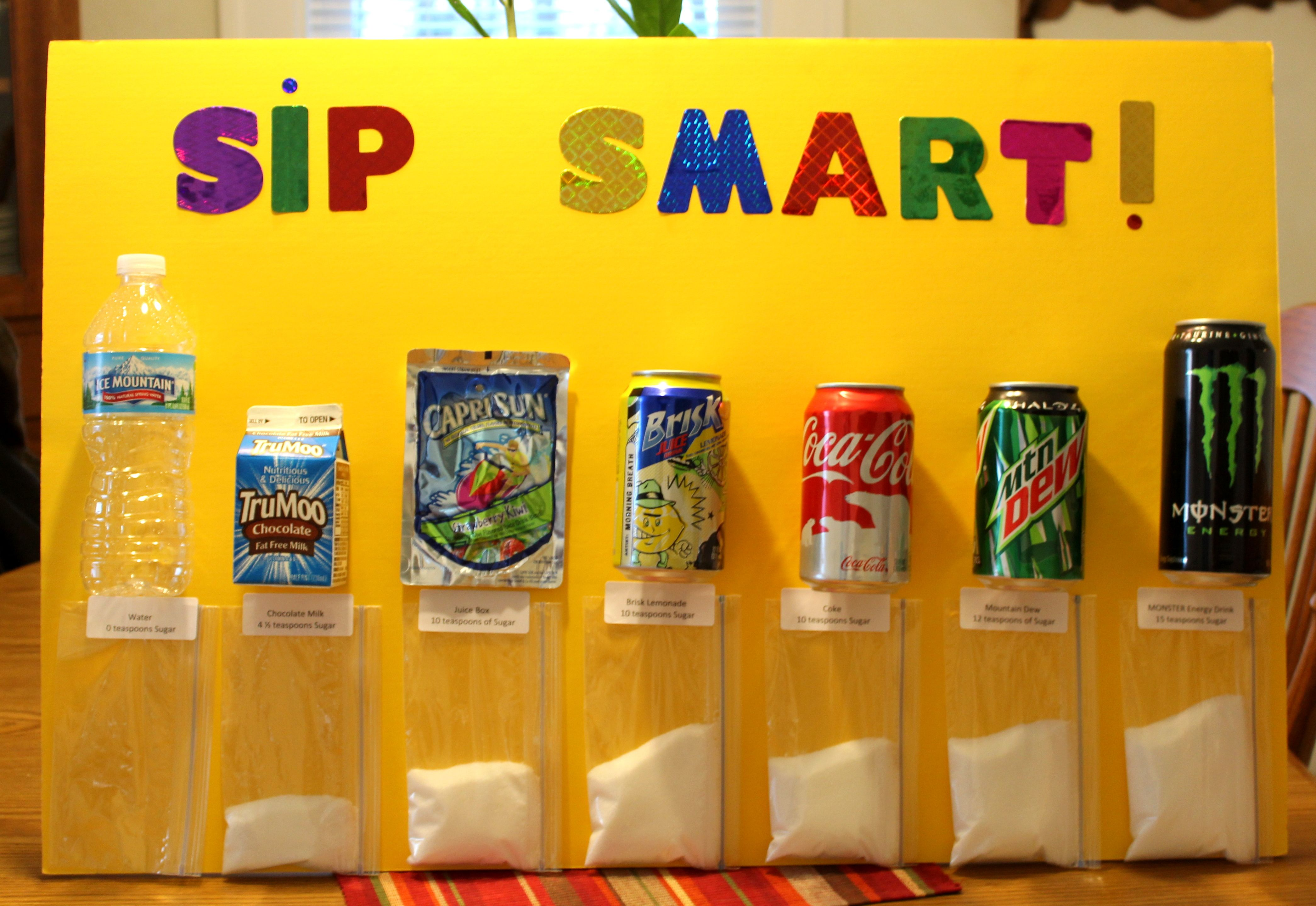 Bulletin Board Sip Smart Chart For Dental Health Month