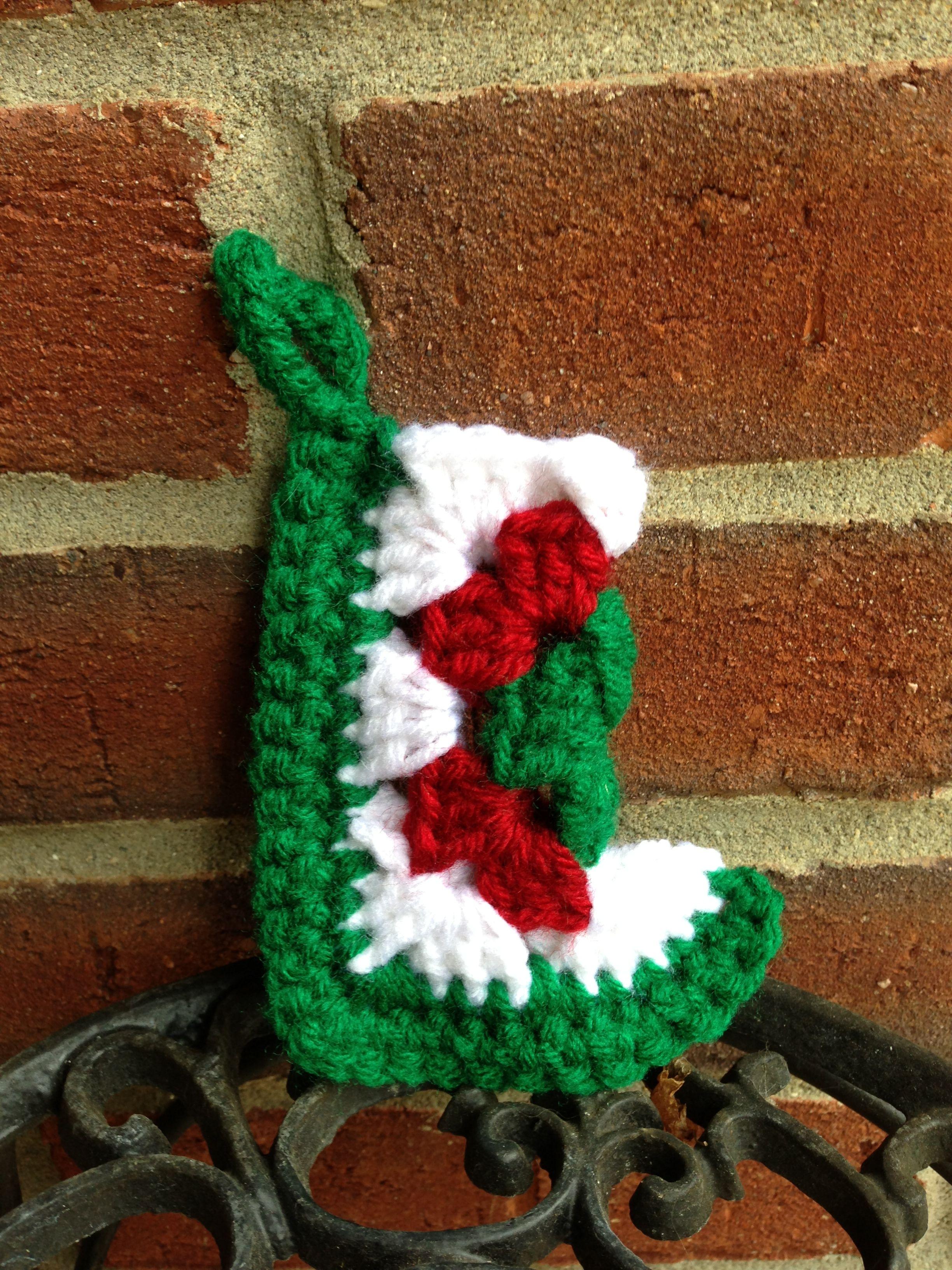 Mini Granny Square Christmas Stocking | Things I crocheted | Pinterest