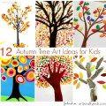 Arty Crafty Kids - Art - Art Ideas for Kids - 12 Autumn Tree Art Ideas for Kids
