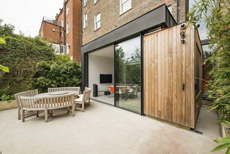 Extension maison bois  moderne et fonctionnelle Extensions - agrandissement maison bois prix m