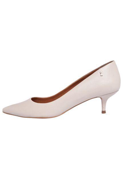 545ee04fa Scarpin Santa Lolla Salto Baixo Bege | Sapatos | Sapatos, Saltos ...
