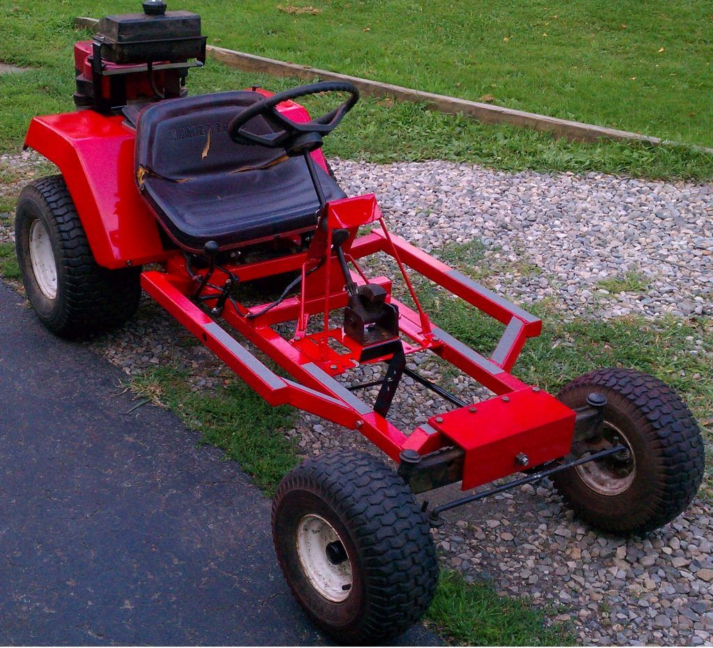 Building a Go kart using a Riding Lawn Mower | Atv diy | Build a go