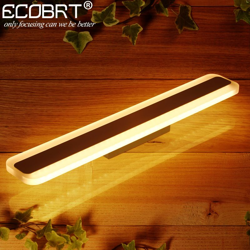 ECOBRT Modern LED Bathroom Mirror Lights Square Indoor Wall Mounted ...