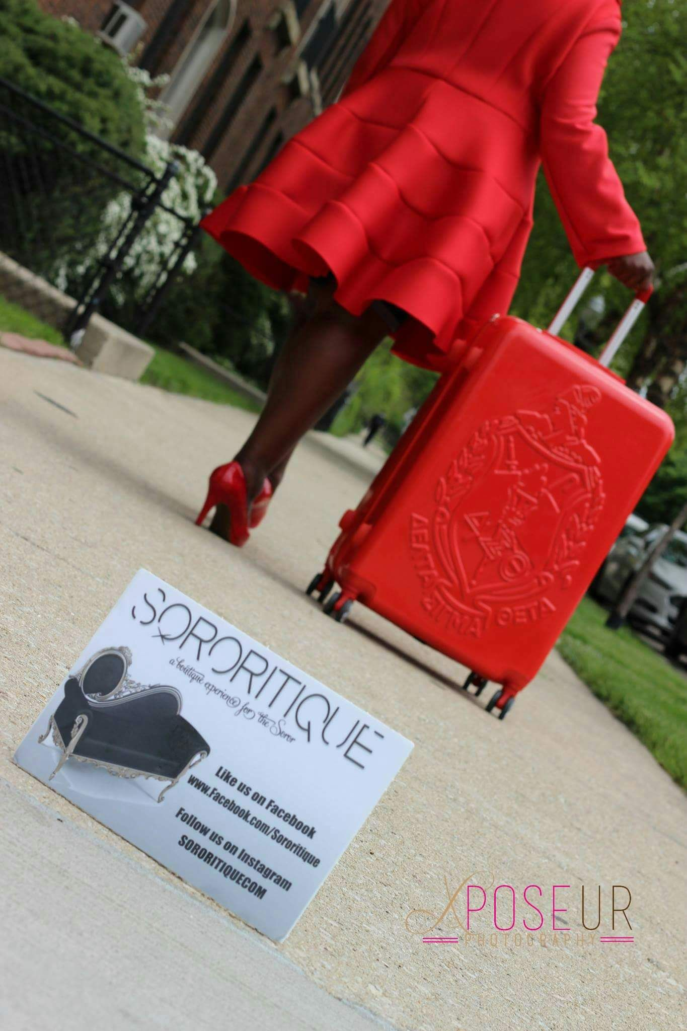 Diva Collection Carry on Red Luggage | Delta Sigma Theta