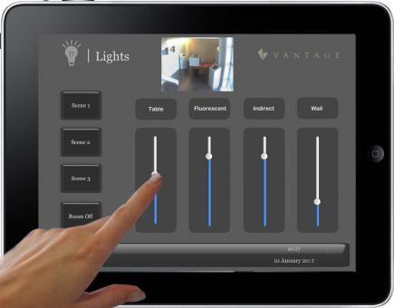 Ipad Lighting Control Vantage Ui House Extensions