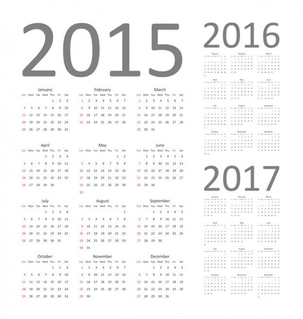 Download Free Vector Graphics Calendar 2015, 2016 and 2017 Fully - steps for creating a grant calendar