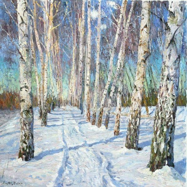 Anatoly Dverin | Birch Grove. Oil/Linen