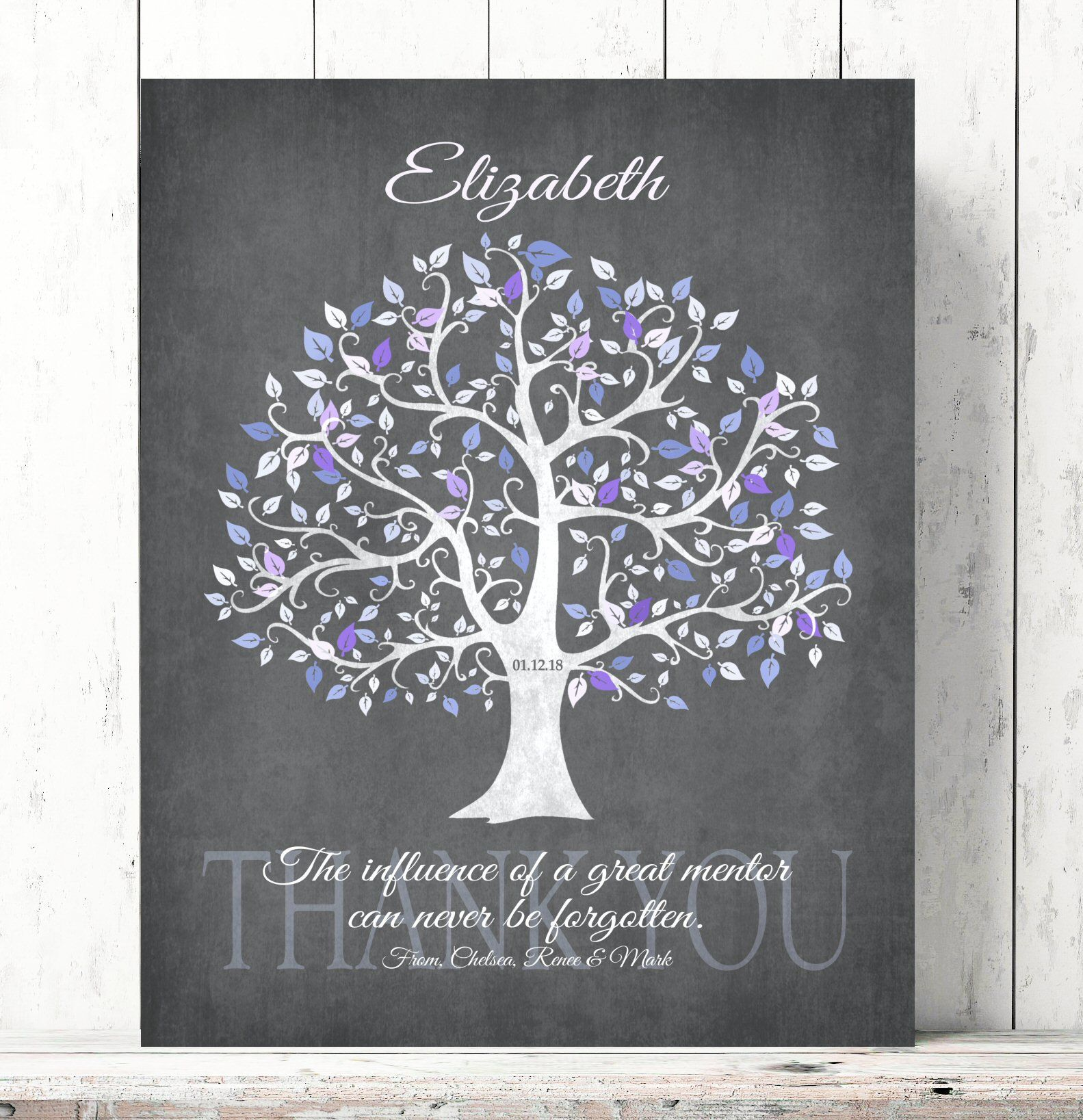 Mentor gift for women personalized leadership gift thank