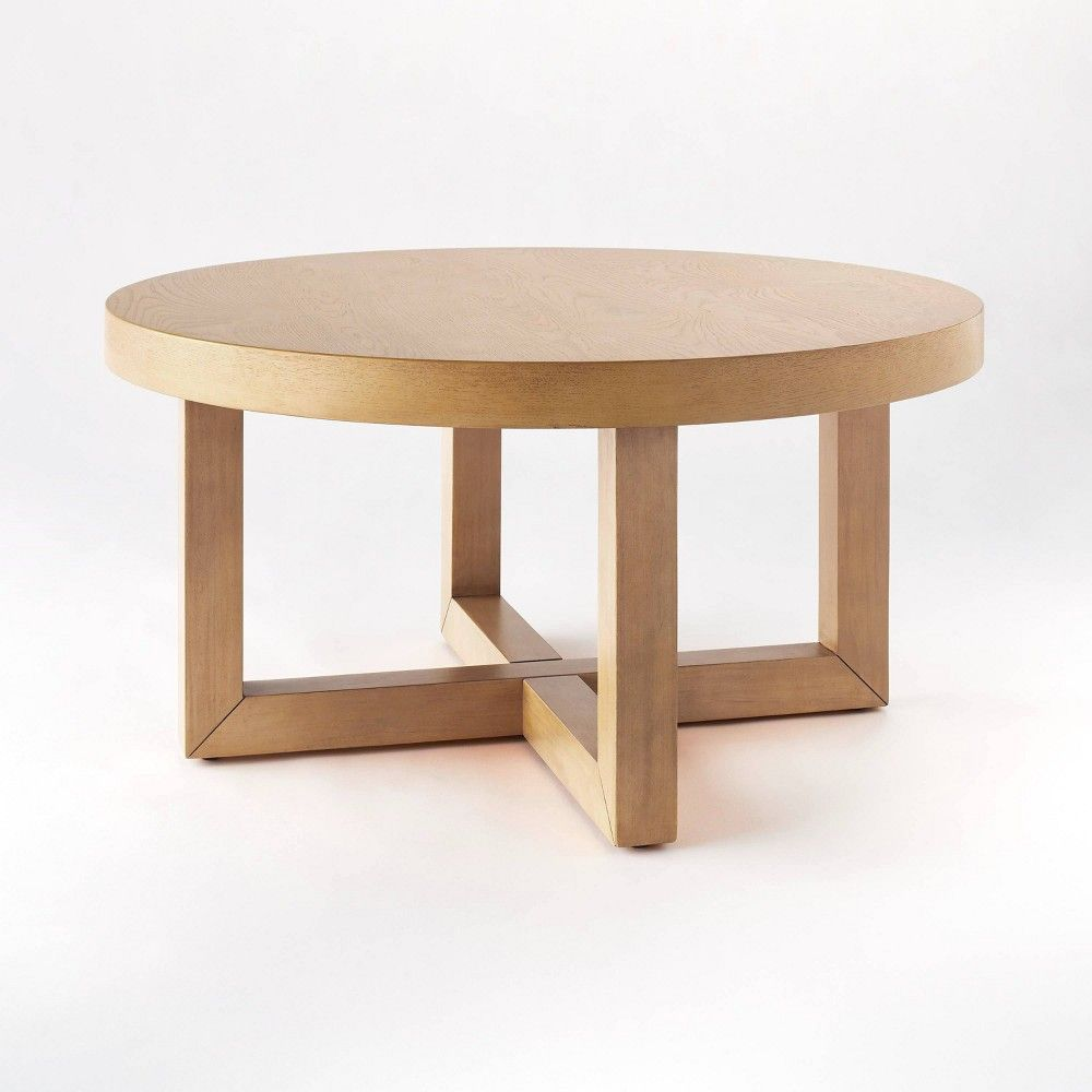 Rose Park Round Wood Coffee Table Threshold Designed With Studio Mcgee In 2021 Round Wood Coffee Table Coffee Table Wood Wood End Tables [ 1000 x 1000 Pixel ]