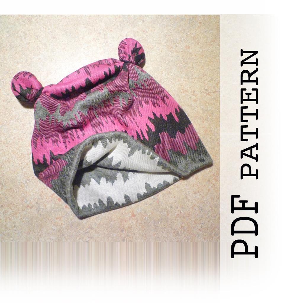Kids Animal Ears Hat pattern, PDF sewing - via @Craftsy