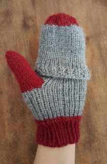 Quality Time: Handarbeit und Hobbybastelei: Handschuhe stricken, Klappfäustlinge/Fingerhandschuhe #glovesmadefromsocks
