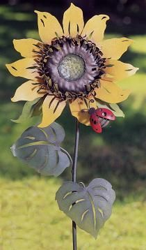 I Have This Sunflower Garden Stake In My Yard!