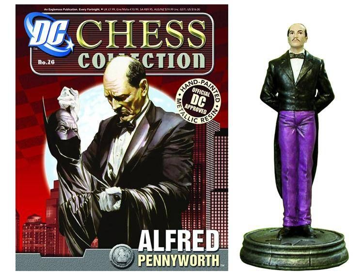 DC Superhero Chess 026 Alfred Pennyworth White Pawn - The Movie Store