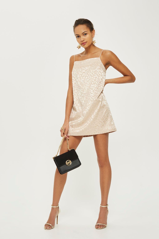 c8266db9dfb2 Jacquard Square Neck Mini Slip Dress in 2019 | style | Dresses, Mini ...