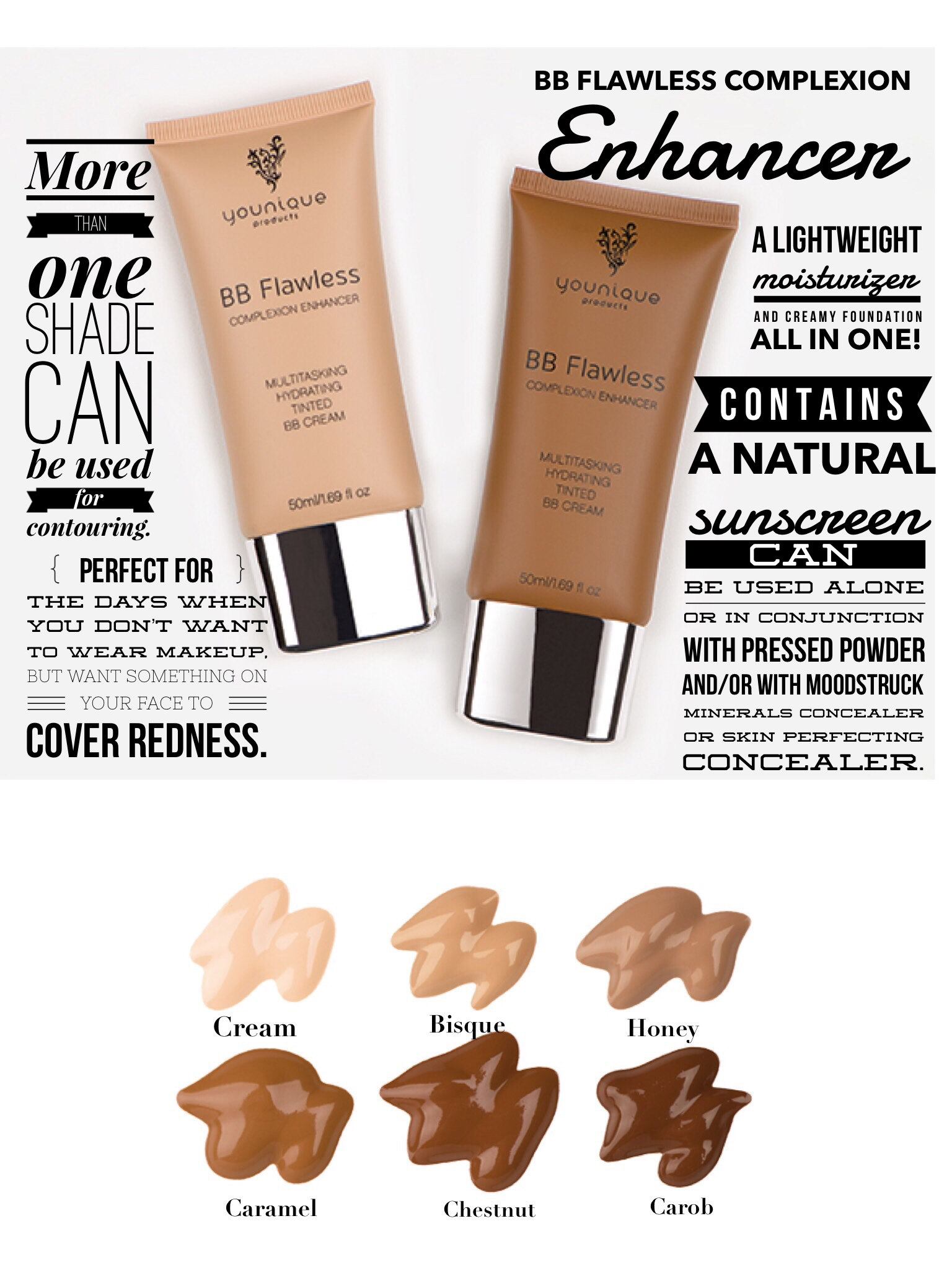 Younique's BB Flawless Complexion Enhancer provides