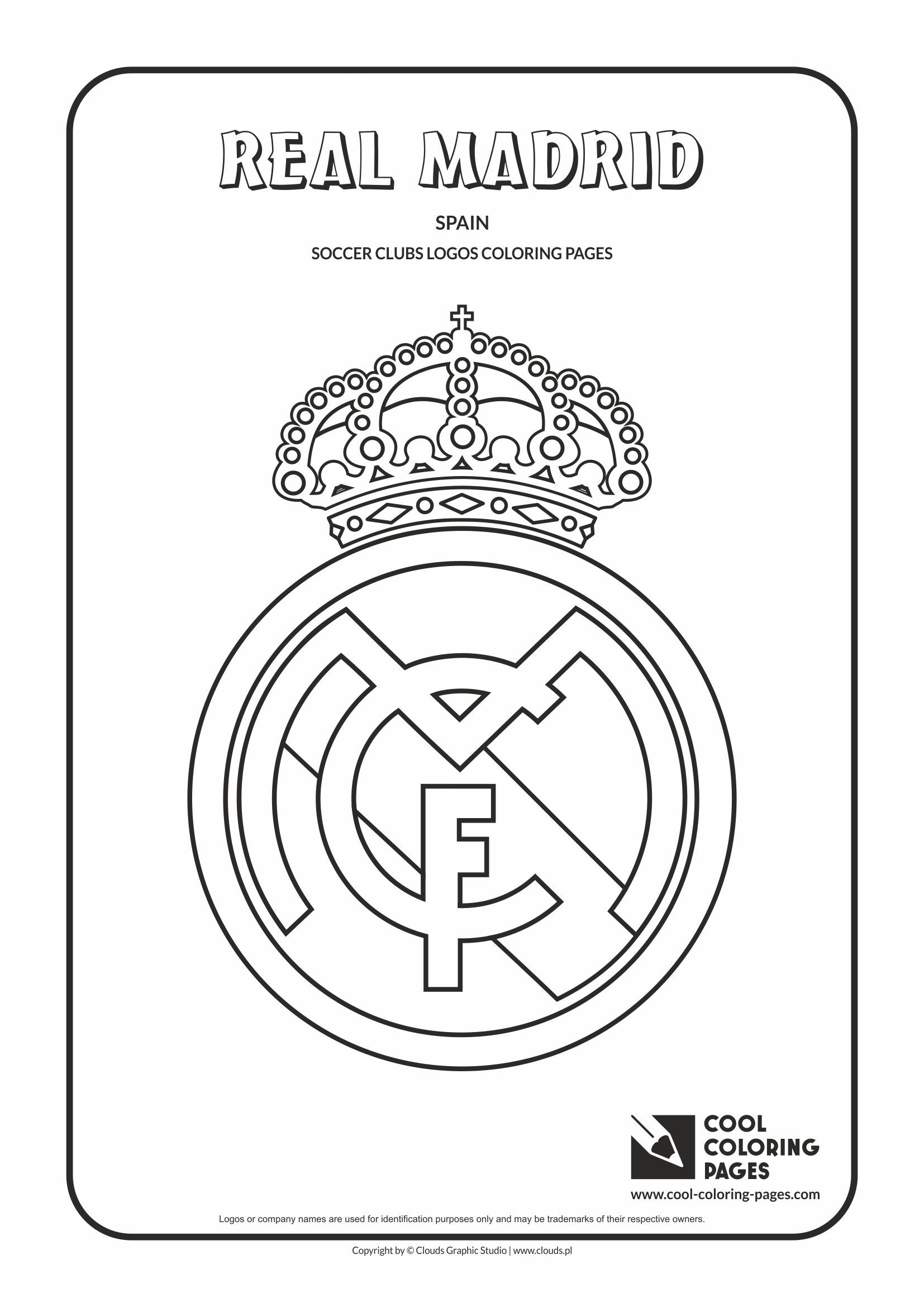 Cool Coloring Pages Others Real Madrid logo Coloring page with Real Madrid logo