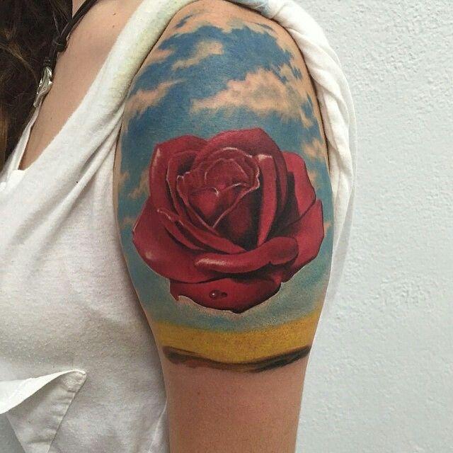 salvador dali rose tattoo google search tattoos pinterest rose tattoos salvador dali. Black Bedroom Furniture Sets. Home Design Ideas