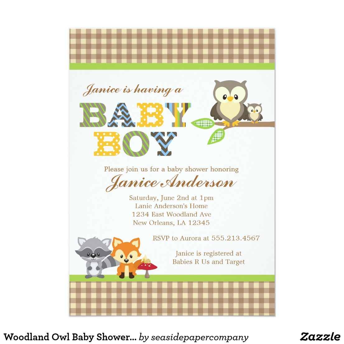 Woodland owl baby shower invitation boy shower invitations woodland owl baby shower invitation boy filmwisefo
