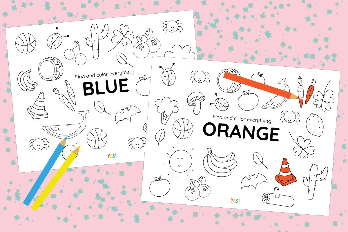 Printable Coloring Pages Of Colors
