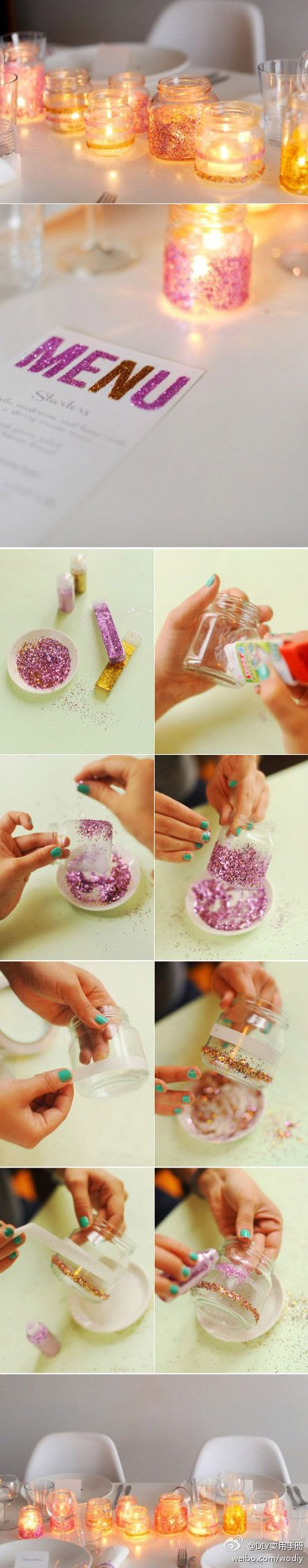 Love these glitter candles