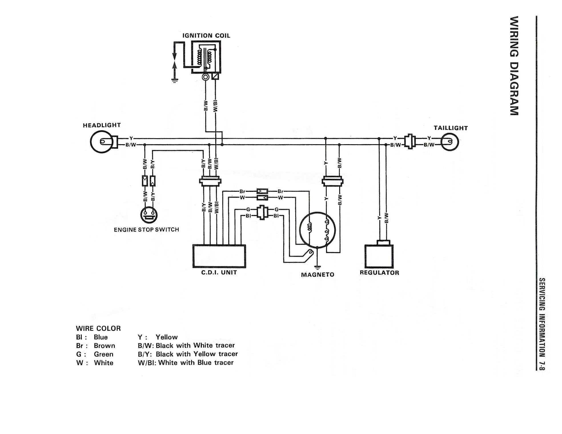 Cdi Circuit Diagram Motorcycle And Dirt Bike Wiring Diagrams Digital Resources