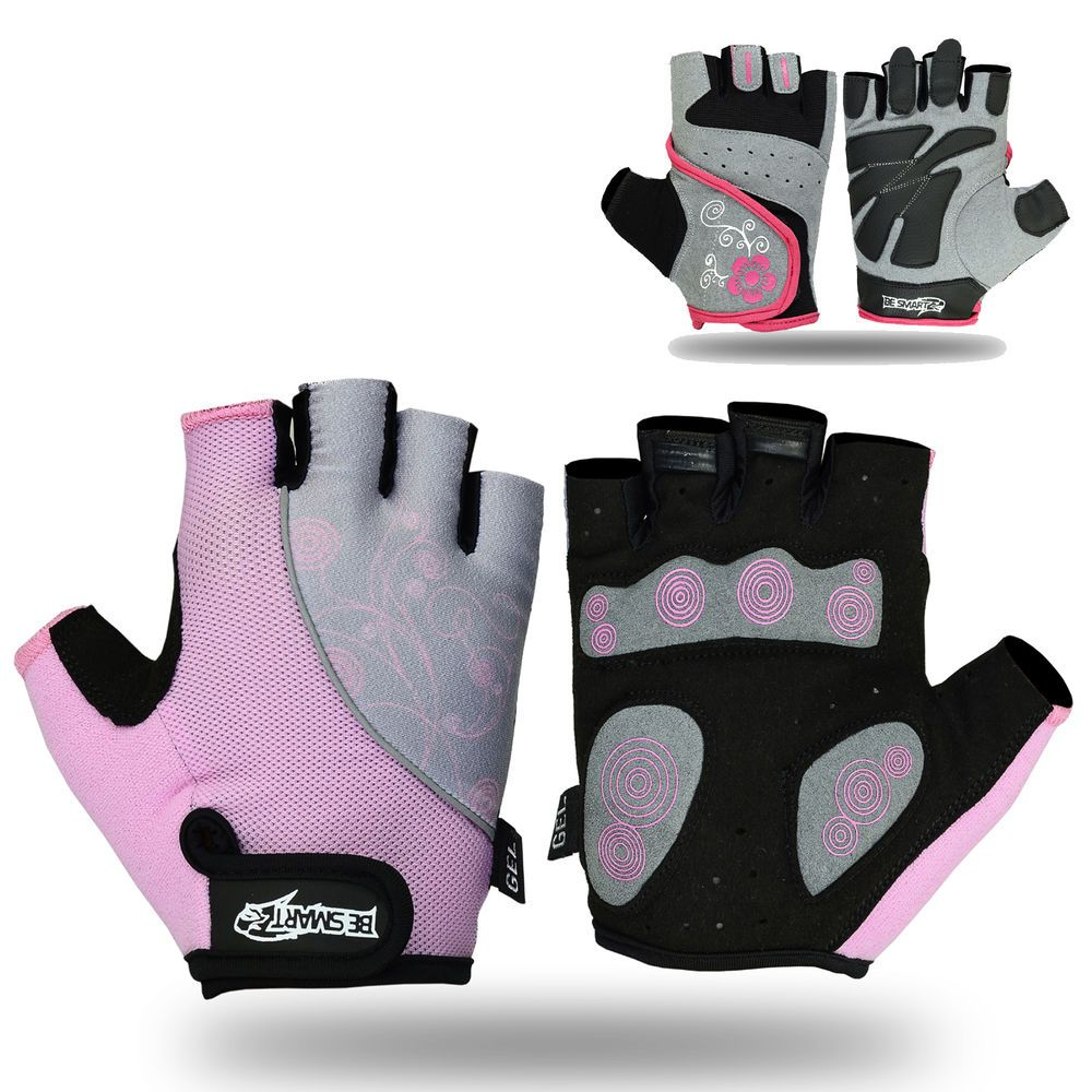Ladies leather cycling gloves - Women S Fit Weight Lifting Gloves Ladies Gym Workout Crossfit New Pink Besmart
