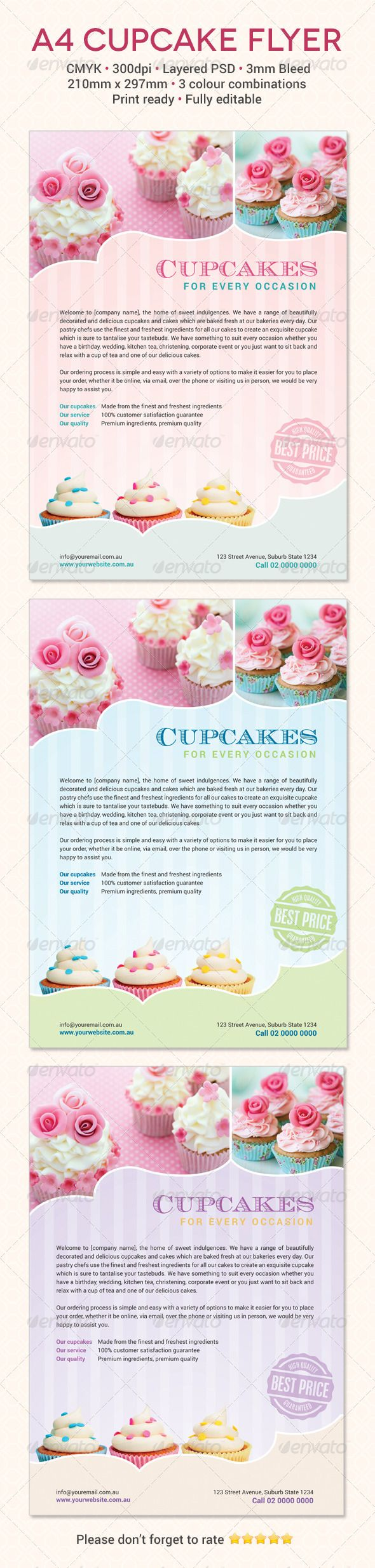 bakery cupcake shop flyer word template publisher template cupcake flyer template