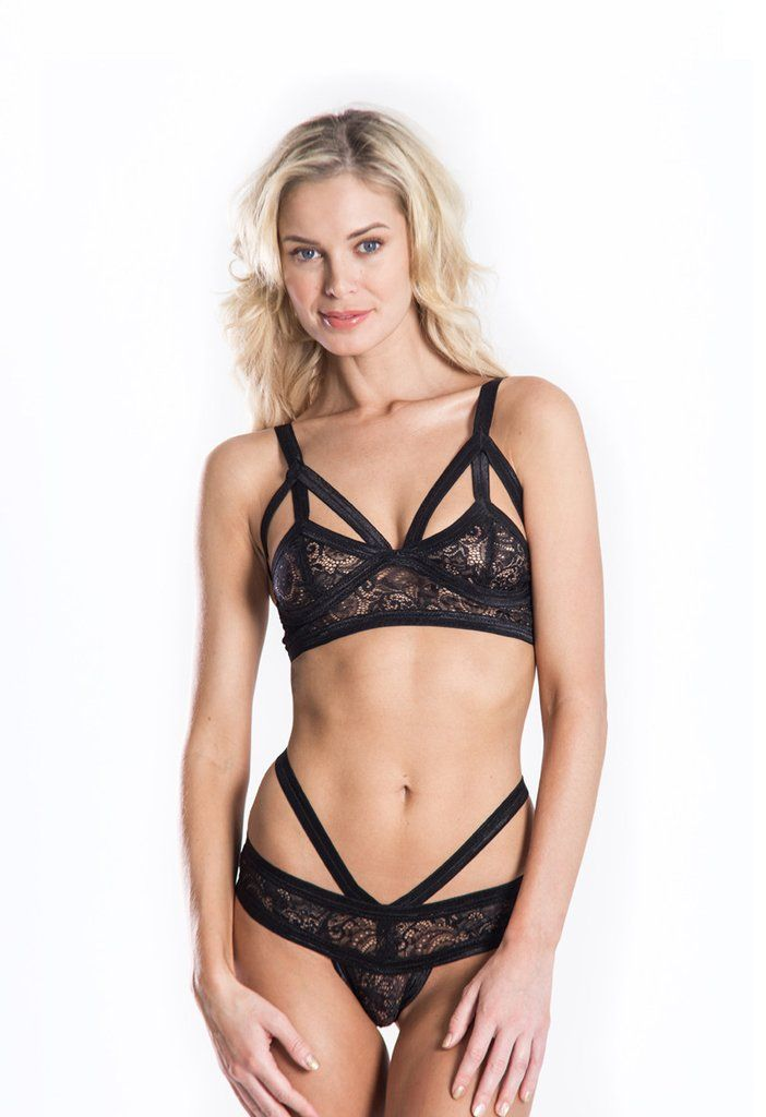 The Triangle Cut out Hand Dyed Satin Elastic Trim Nylon Spandex Lace  Features Triangle shaped straps Hand wash Only Model wears a Small Hand  made in Los ... 751142cd7